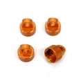 CNC Machined Alum. Shock Caps for Axial Wraith (4 pcs) Orange